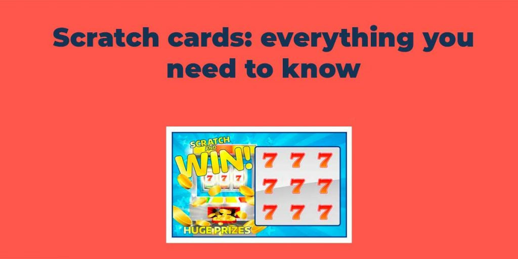 Scratch card on red background