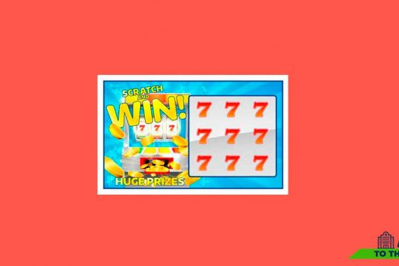 Scratch card on red background - News
